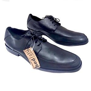 NEW Bed StunBlack Leather dress shoes size 12